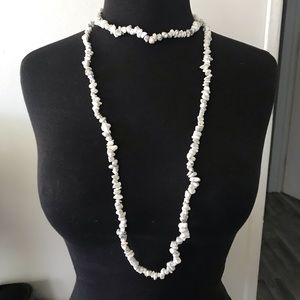 Jewelry - White Howlite 2 strands of necklaces
